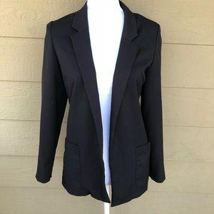 H&M Black Open Front Blazer Size 4